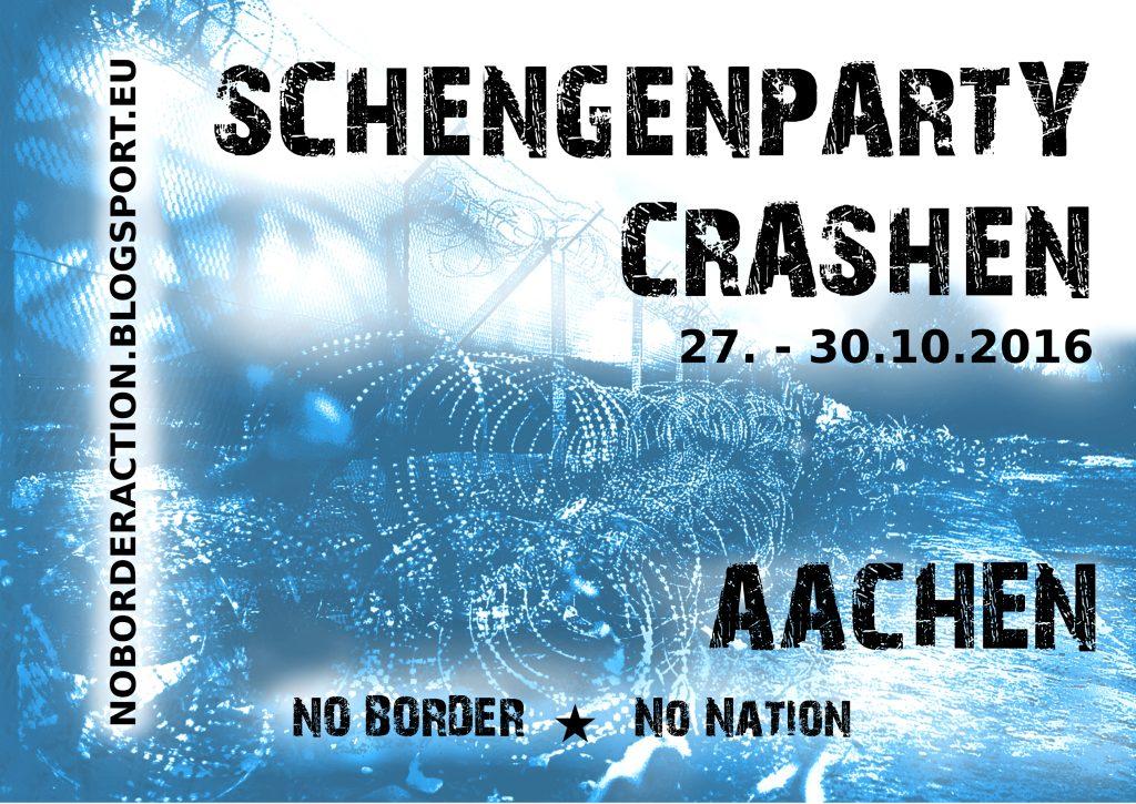 Schengenparty Crashen! Sticker A7
